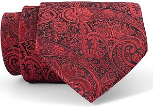 Crimson Paisley Regular Tie