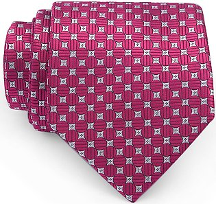 Crimson Polka Dotted Regular Tie