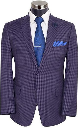 Plum And Black Check Suit ST-15