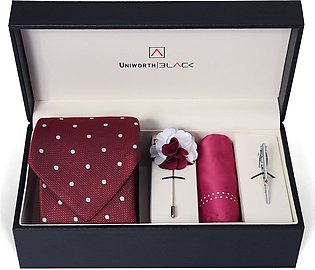Maroon/white Doted Men Accessories Box