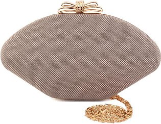 """Women """"GADOT"""" Patent Clutch with Gold Chain"""