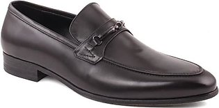 """MEN """"JANKIN"""" Stitched Detail Metallic Buckle Shaded Formal Shoes"""