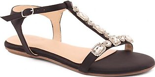 """Women """"INMA"""" Comfortable Slip On Buckle Ankle Strap Sandals"""