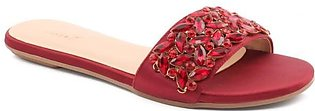 "WOMEN ""ROSALIND"" CRYSTAL JEWEL SLIP ON SLIPPERS"