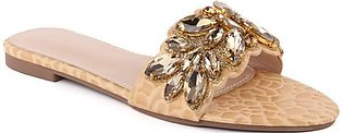"Women ""PAM"" Glitter Crystal Slippers"