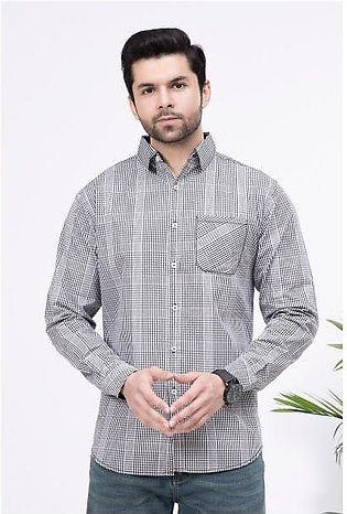 """Men's """"Qin"""" Finest Fabric Casual Check Shirt"""