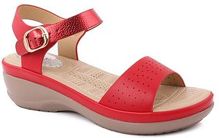 """Women """"ALEAH"""" Open Toe Slip On Ankle Strap Perforated Comfort Wedge Sandals"""