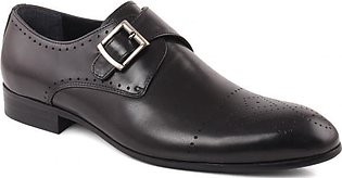 "Mens ""HENRY"" Buckle Strap Leather Slip On Shoes"