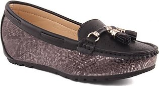 """Women """"CHARLOTTE"""" Everyday Glossy Wedge Moccasins"""