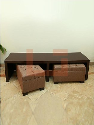 Tipty Coffee Table with Stools