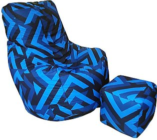 Blue Zebra Bean Bag