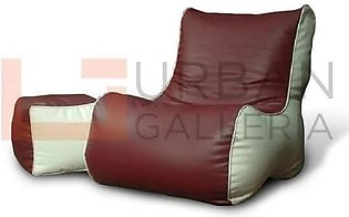 Artificial Leather Sofa Bean Bag with Stool
