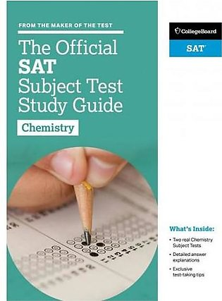 The Official SAT Subject Test Study Guide Chemistry By College Board
