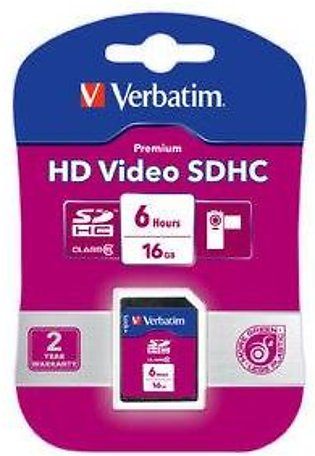 Verbatim HD Video SDHC Card 12 Hours 32GB (Class 6)