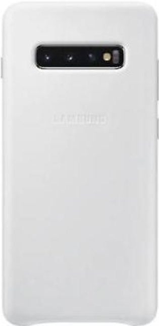 Samsung Galaxy S10+ Leather Cover- White