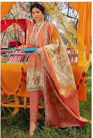 3PC Lawn with Printed Dupatta (With Emb) With Lawn 3820528