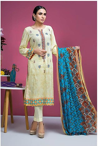 3PC Chiffon Lawn Embroidery  3820249