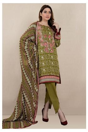 3PC Khaddar Embroidery with Printed Shawl 3819799