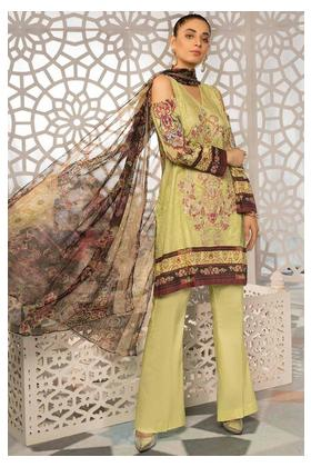 3PC Lawn Embroidery with Bamber Dupatta 389241A