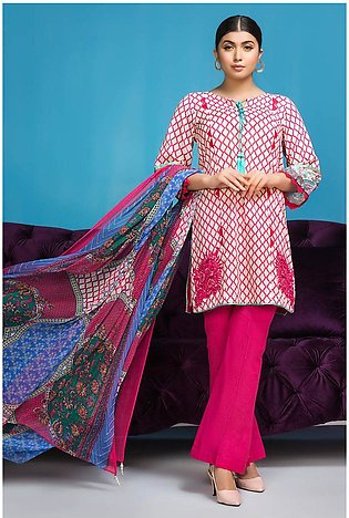 3PC Chiffon Lawn Embroidery  380241A