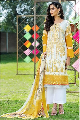 3PC Chiffon Lawn Embroidery 3820263