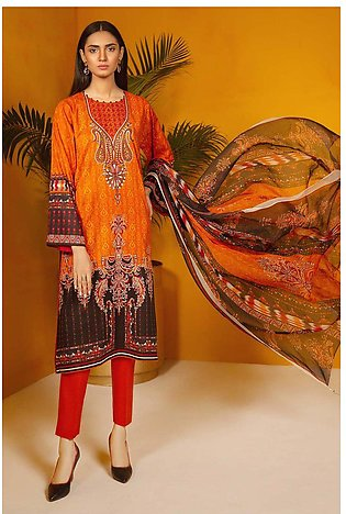 3PC Chiffon Lawn Embroidery  3820242