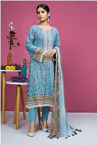 2PC Chiffon Lawn Embroidery  2520151