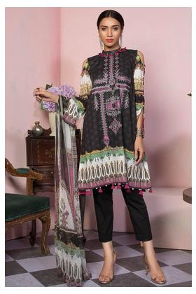 3PC Lawn Embroidery with Bamber Dupatta 3819414