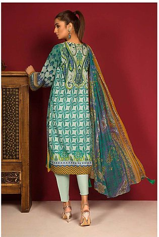 3PC Chiffon Lawn Embroidery  380250A