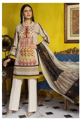3PC Lawn Embroidery with Bamber Dupatta 3819415