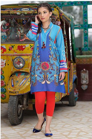 Single Shirt Lawn Print Embroidery LS20021