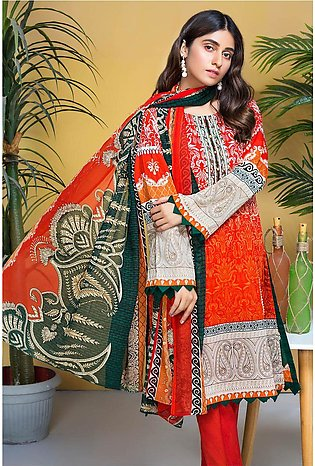 3PC Chiffon Lawn Embroidery  3820239