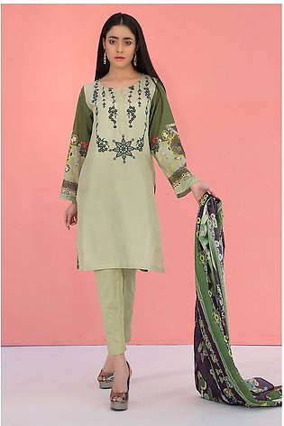 3PC Lawn Print Embroidery LS19131