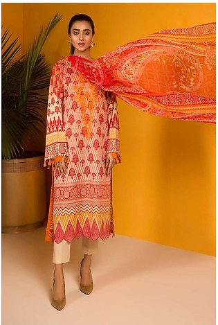 3PC Chiffon Lawn Embroidery  3820250