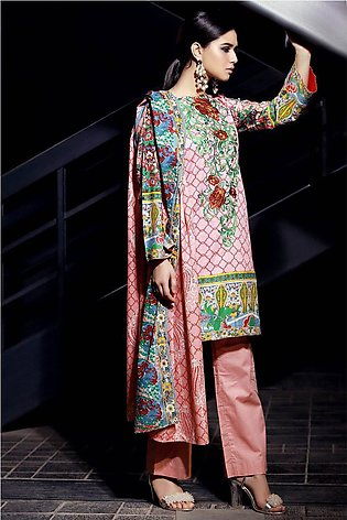 3PC Lawn Embroidery LS18063