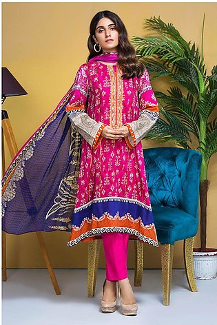 3PC Chiffon Lawn Embroidery  380239A
