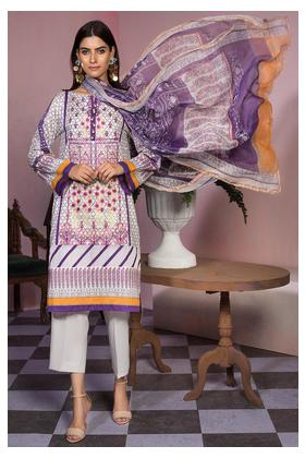 3PC Lawn Embroidery with Bamber Dupatta 389415A