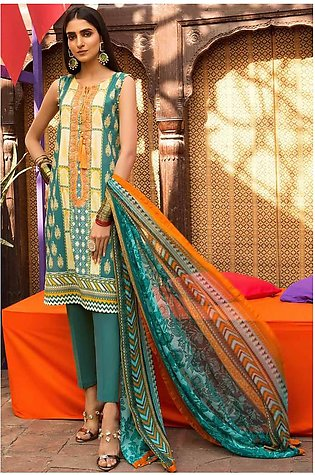2PC Lawn Embroidery- Trouser 250243A