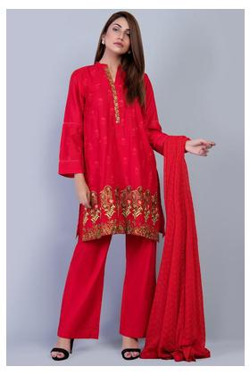 3PC Chiffon Lawn Embroidery (solid) LS19128