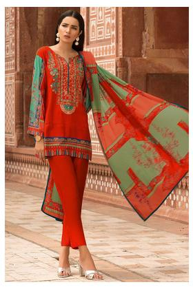 3PC Khaddar Embroidery with Printed Shawl 3819782