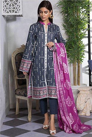 2PC Lawn Shirt with Jacquard Dupatta 2559509