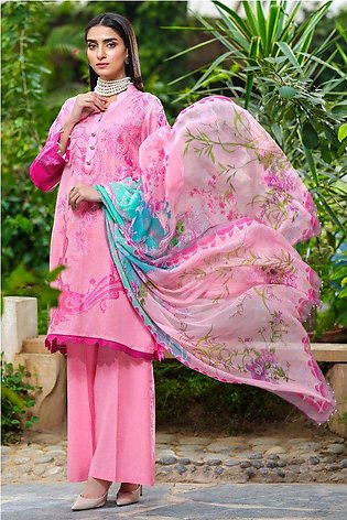 3PC Jacquard with Digital Chiffon Dupatta 3820286