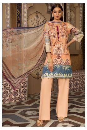 3PC Lawn Embroidery with Bamber Dupatta 3819275