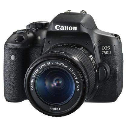 Canon Eos 750D with 18-55mm kit and 16gb class 10 card