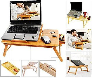 Multipurpose Wooden Laptop Table with Drawer and 2 Cooling Fan