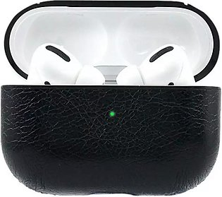 New Apple AirPods Pro Leather Wireless Charging Case Protective Cover Black