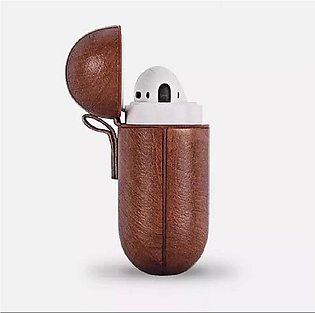 Apple Airpods Leather Protective Shell Case Brown