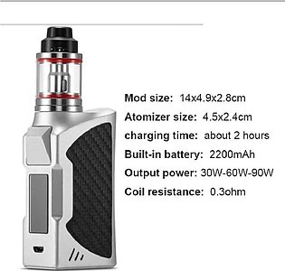 90W Electronic With LED Screen Build-in 2200mah Adjustable Battery Mode 2.8ml C…