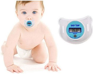 Digital LCD Pacifier Thermometer Baby Nipple Soft Safe Mouth