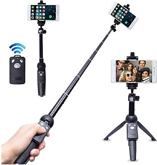 Yunteng YT-9928 2 in 1 Mini Tripod Selfie Stick with Phone Holder Remote Cont...